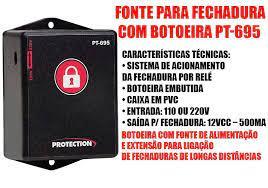 Fonte Para Acionamento De Fechadura com Botão  PT-695
