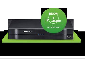 Gravador Intelbras digital de vídeo Tríbrido - HDCVI 1004 G2