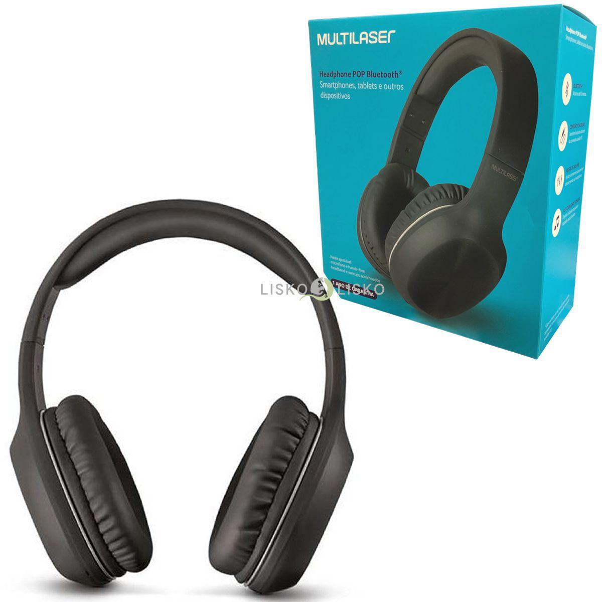 Headphone Multilaser PH246 Bluetooth  Preto