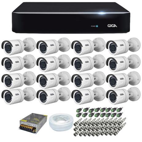Kit 16 Cameras Segurança 1080p Full Hd Dvr GIGA
