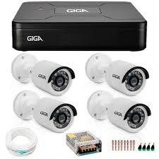 Kit 4 Cameras Segurança 1080p Full Hd Dvr GIGA