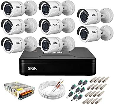 Kit 8 Cameras Segurança 1080p Full Hd Dvr GIGA