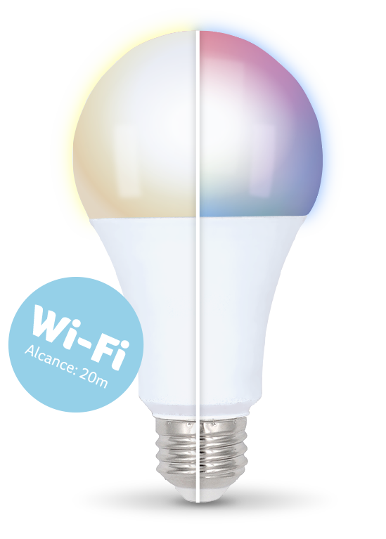 Lâmpada LED Bulbo Inteligente Colorida Dimerizável Wi-Fi - Multilaser Liv - SE224