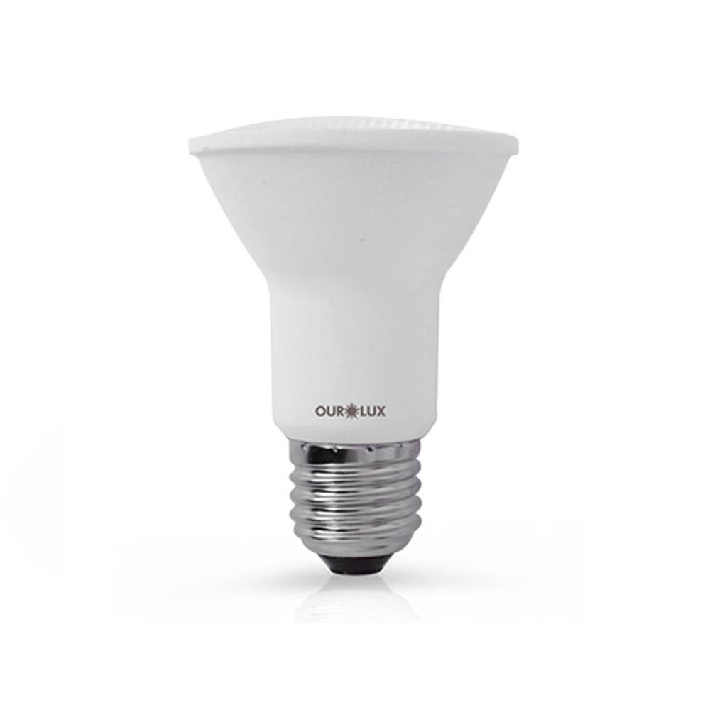 Lâmpada Par20 Superled 6w E27 Luz Branca Morna Bivolt Ourolux 3000K