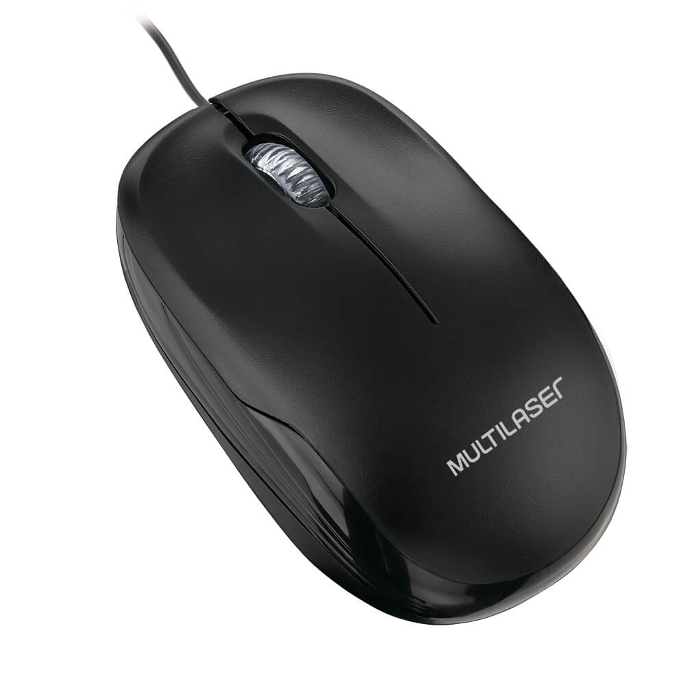 Mouse Usb Multilaser Preto MO255 com Fio
