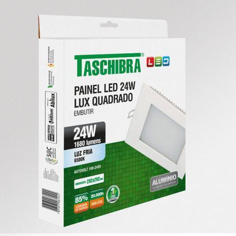Painel LED LUX 24W Quadrado de embutir 6500K  Taschibra