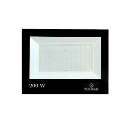Refletor Led Smd Slim 200w 6500k Preto