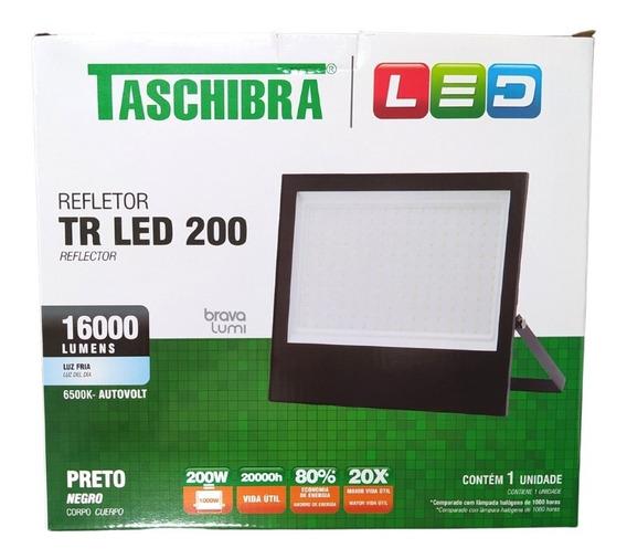 Refletor Led Taschibra 200w 6500k Preto