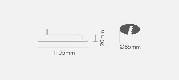 Spot Interlight Dicroica 0076-BMTX(branco fosco)