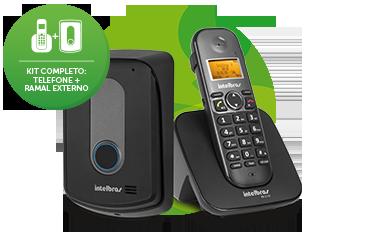 Telefone sem fio com ramal externo Intelbras