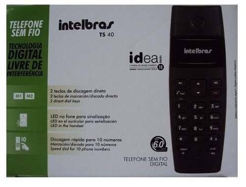 Telefone sem fio Intelbras TS40