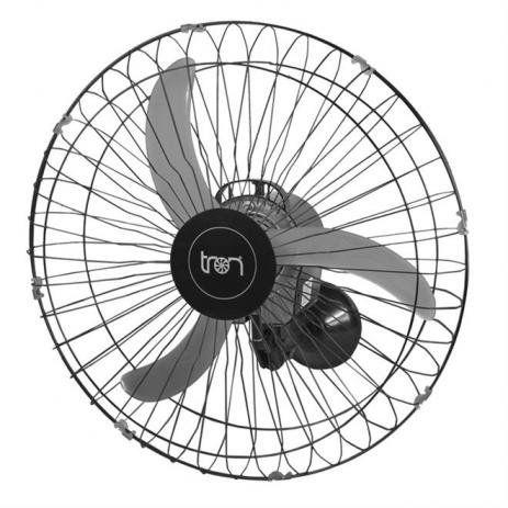 Ventilador TRON 60cm preto Parede 2pcs