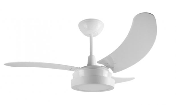 Ventilador TRON Buzios Led branco 220V