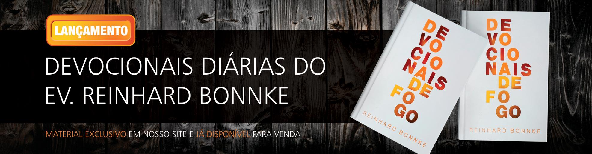 Livro Devocionais de Fogo do Evangelista Reinhard Bonnke - Lançamento - Cfan Brasil