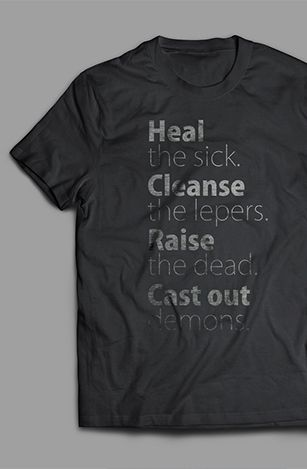 Camiseta The Send preta Heal the Sick - Daniel Kolenda  - Cristo para Todas as Nações