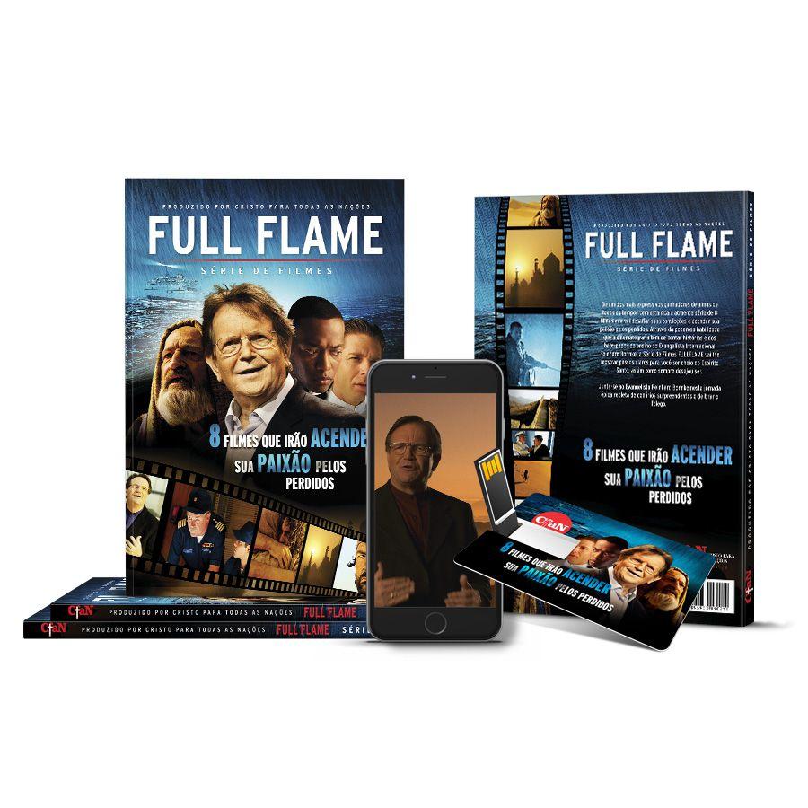 Série FULL FLAME com 8 filmes e 8 estudos do Evangelista Reinhard Bonnke  - Cristo para Todas as Nações