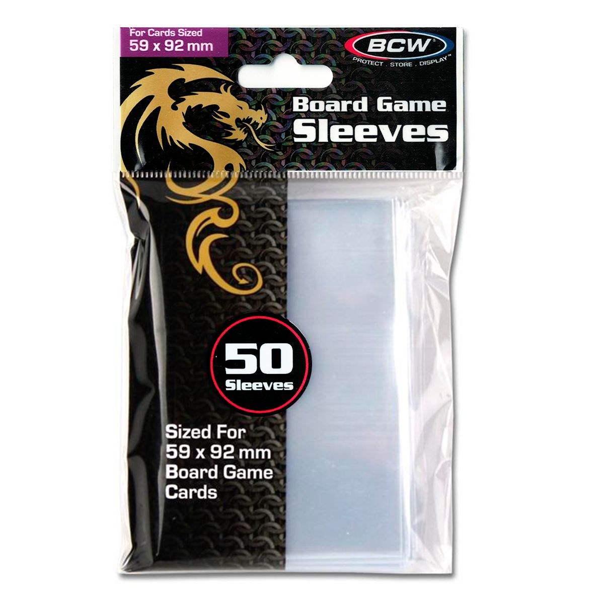 Sleeves Transparente Shield BCW Euro 50 unidades