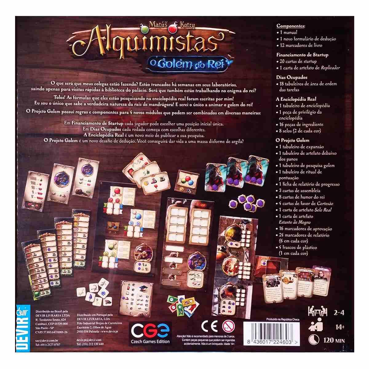 Alquimistas O Golem Do Rei Expansão Jogo De Tabuleiro