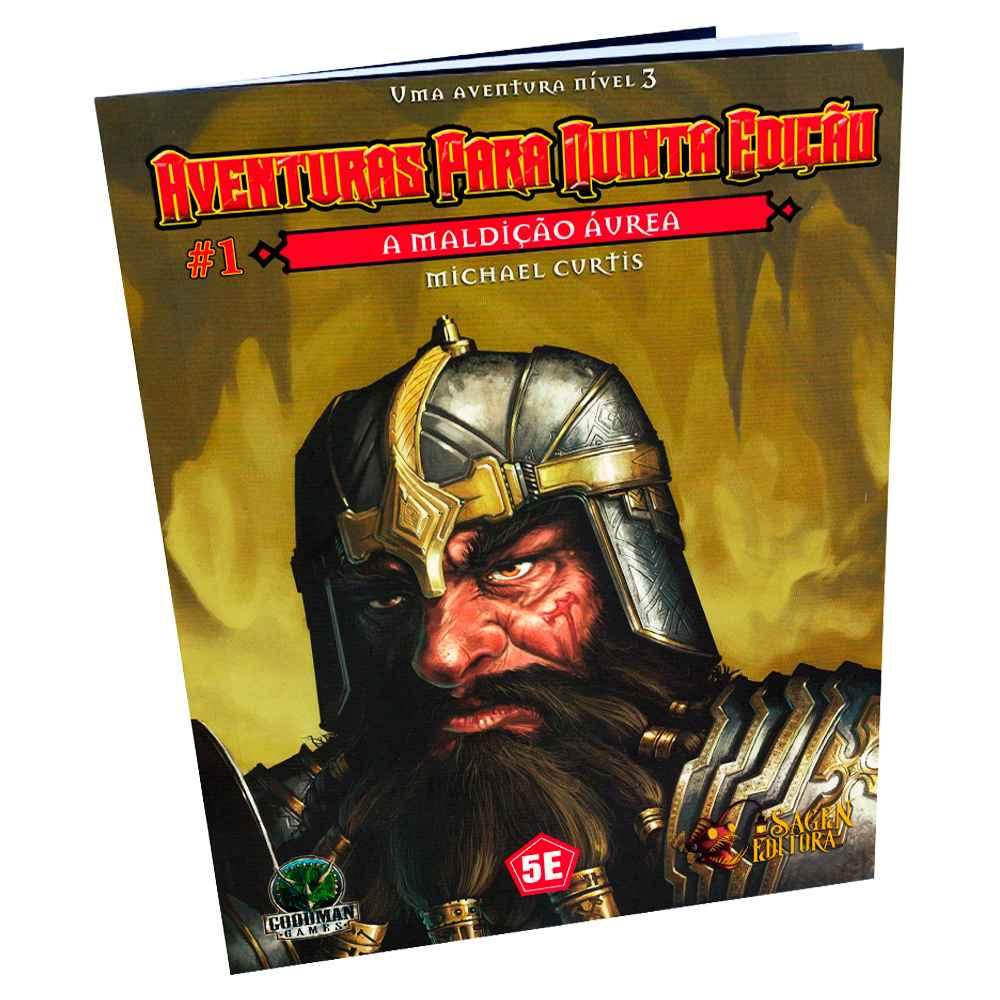 Aventuras para Quinta Edição A Maldição Áurea 1 - Dungeons Dragons