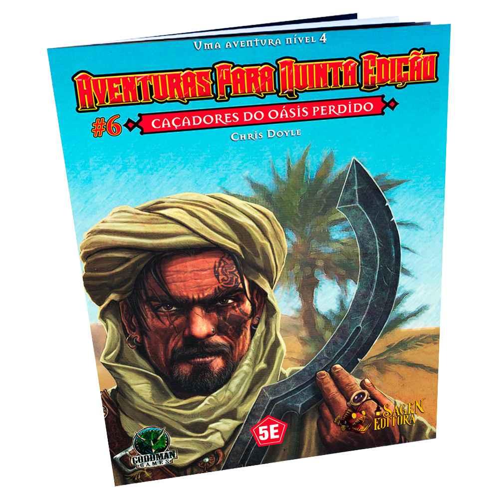 Aventuras para Quinta Edição Caçadores do Oásis Perdido 6 - Dungeons Dragons