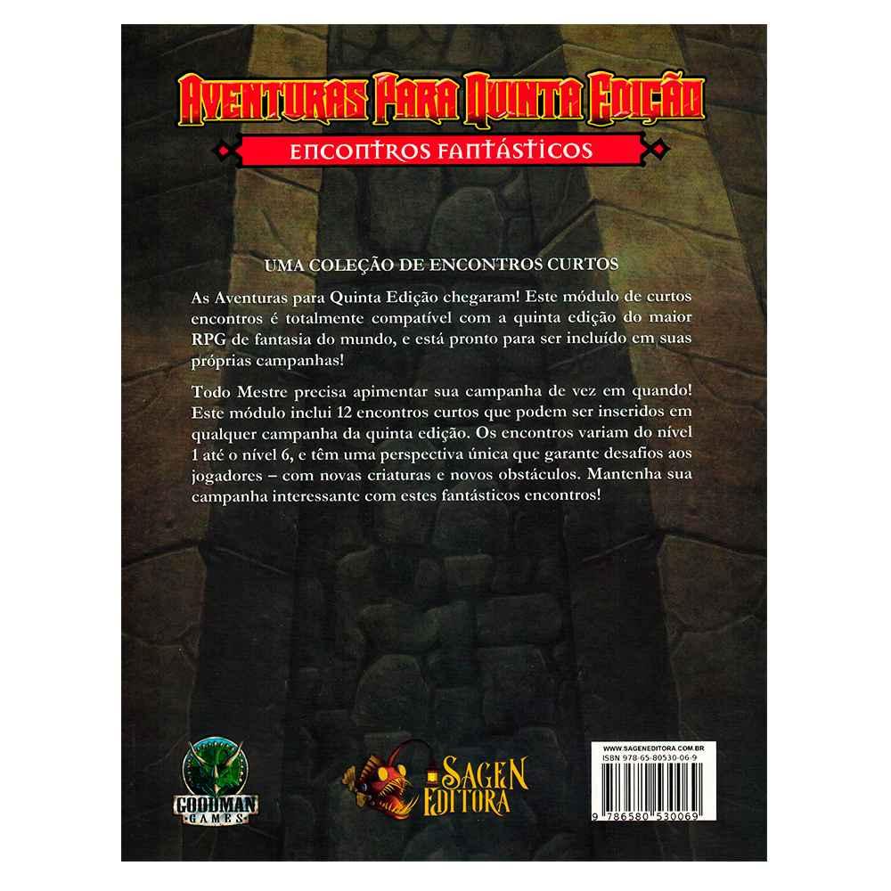Aventuras para Quinta Edição Encontros Fantásticos 7 - Dungeons Dragons