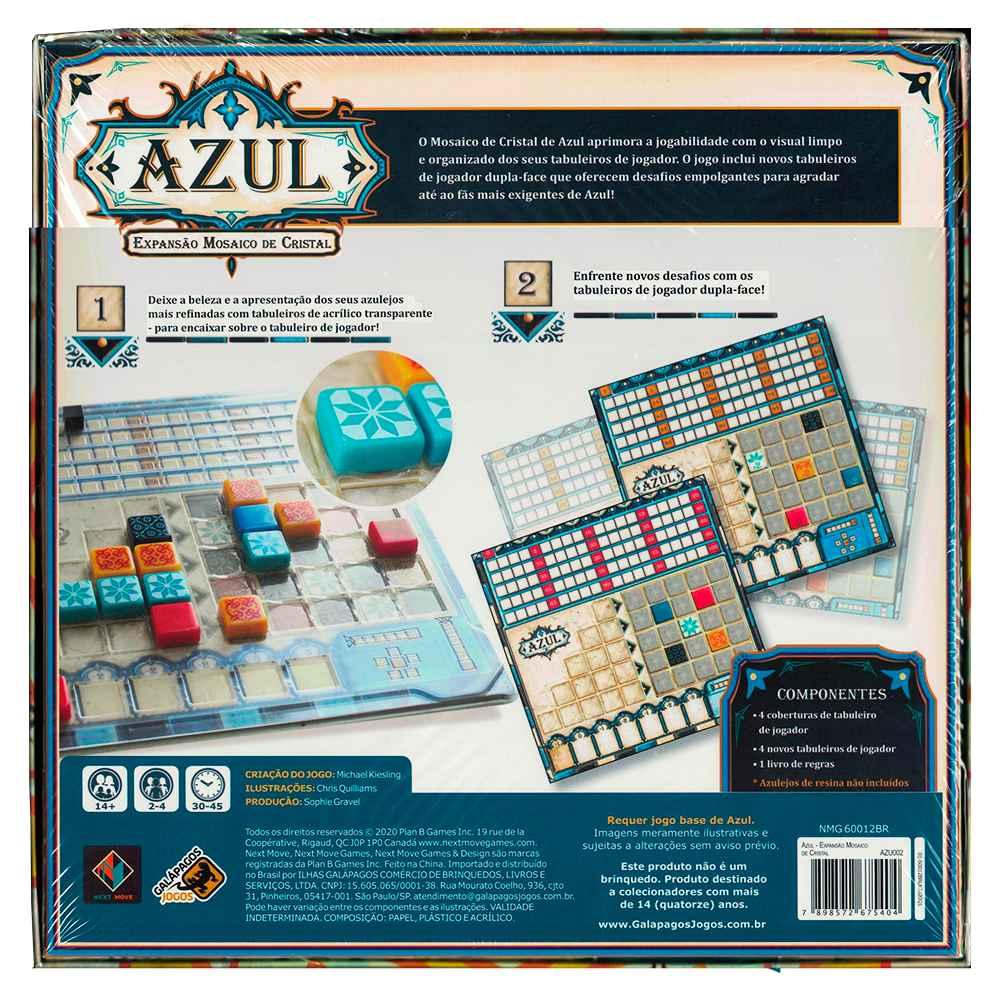 Azul Expansão Mosaico de Cristal Jogo de Tabuleiro