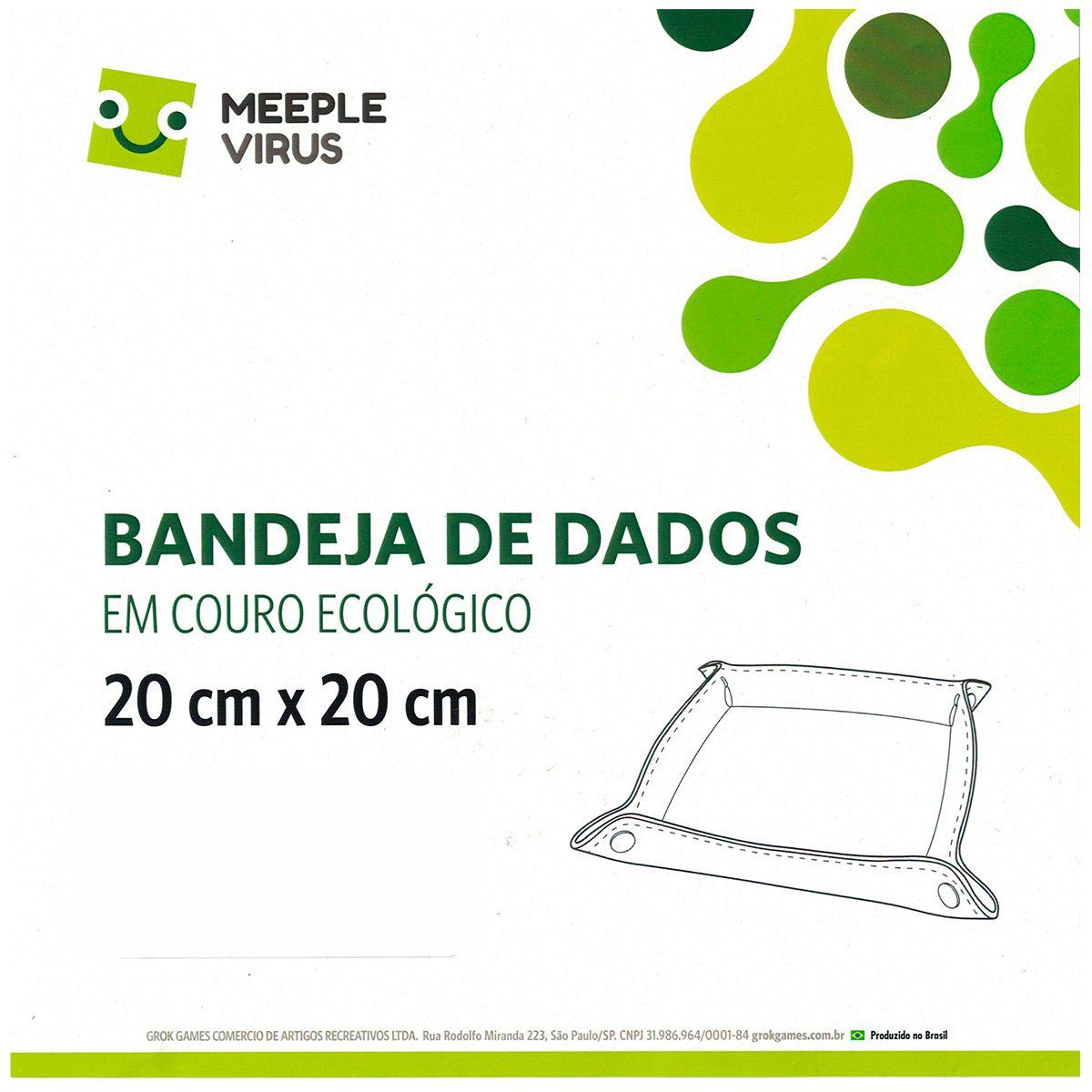 Bandeja de Dados em Couro Ecológico 20 x 20 cm Meeple Virus