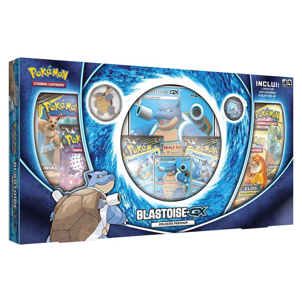 Box Pokemon Blastoise Gx Coleção Premium