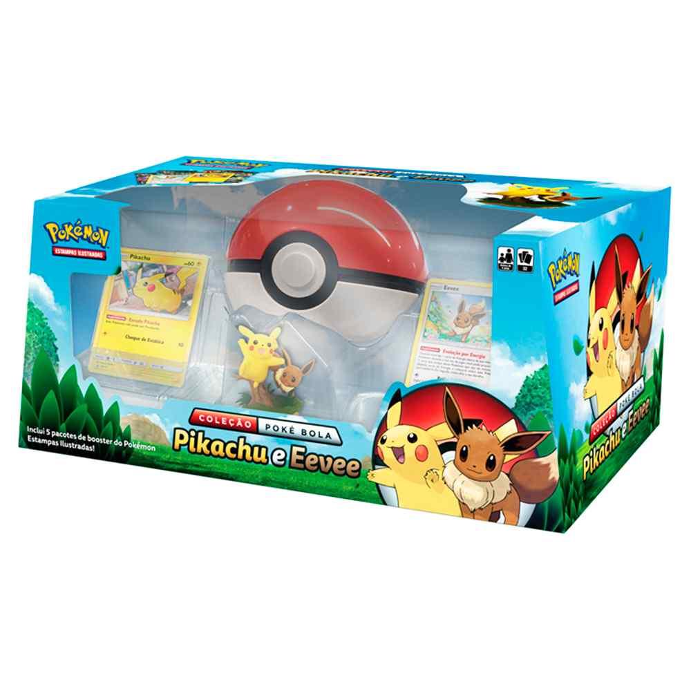 Box Pokemon Coleção Poke Bola Pikachu e Eevee