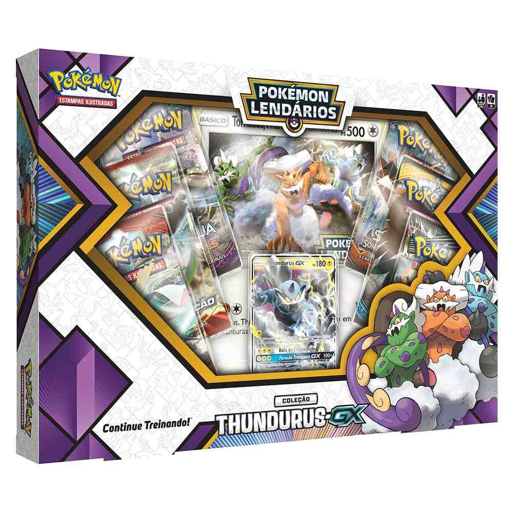 Box Pokemon Forças da Natureza Thundurus GX