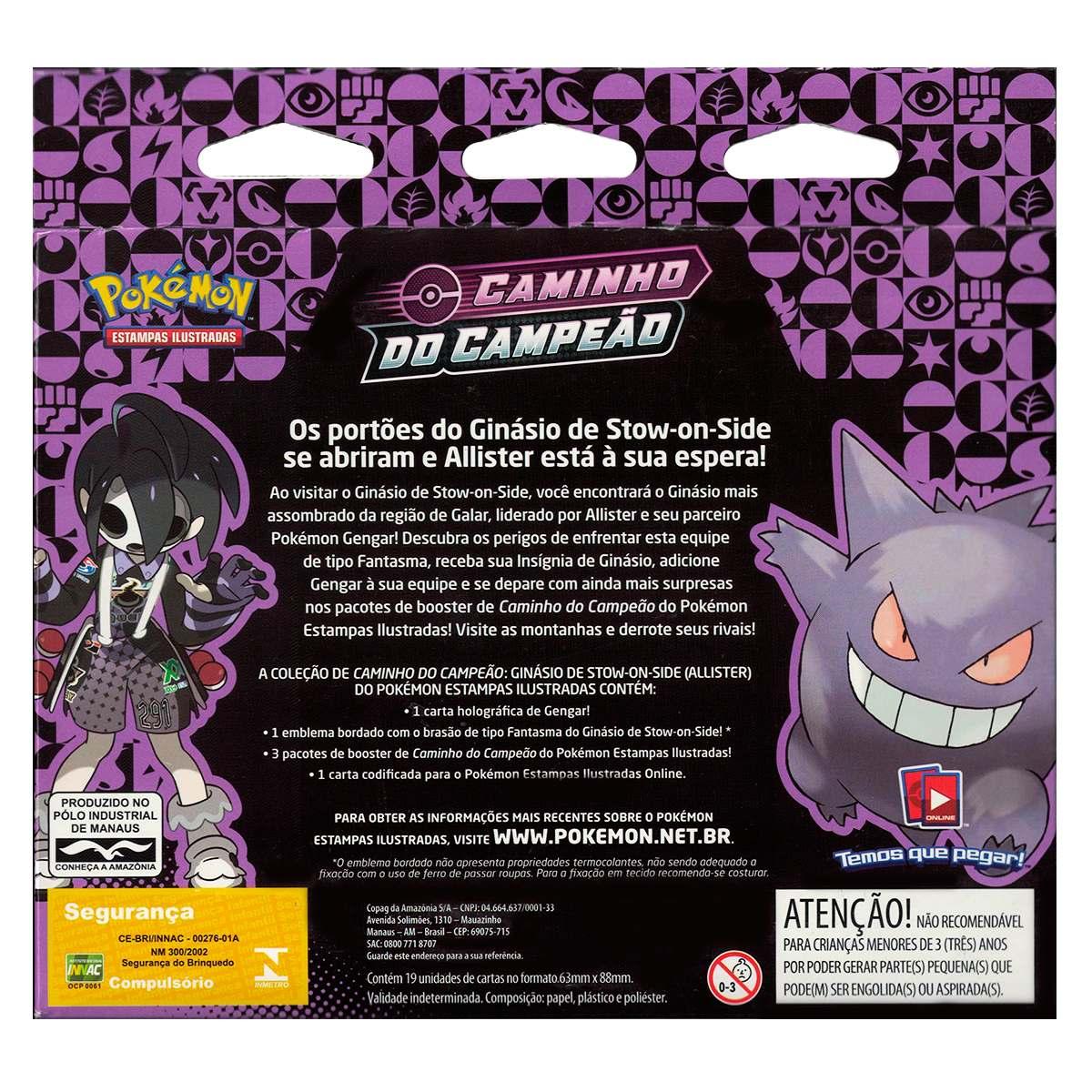 Box Pokemon Gengar Caminho do Campeão