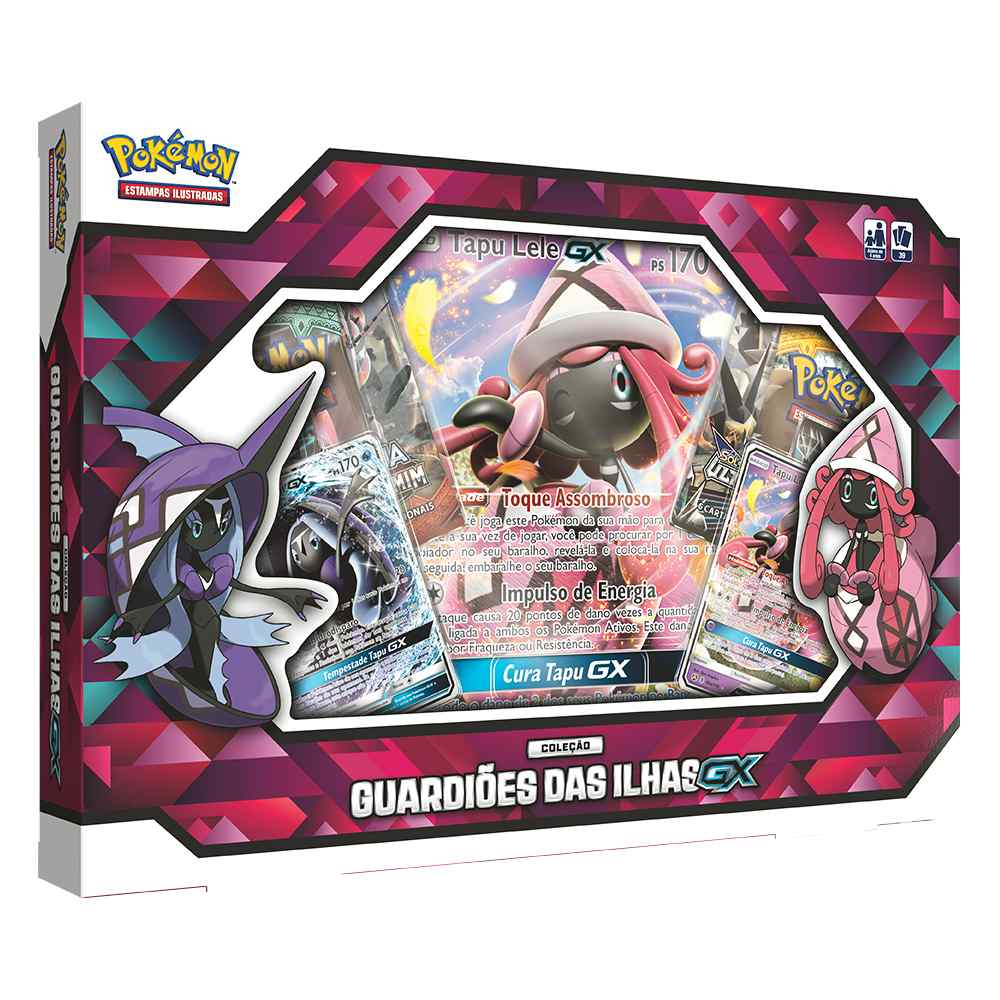 Box Pokemon Guardiões das Ilhas GX Tapu Lele
