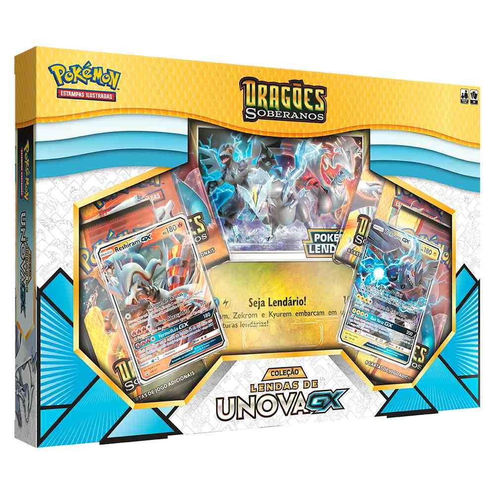 Box Pokémon Lendas de Unova Dragões Soberanos