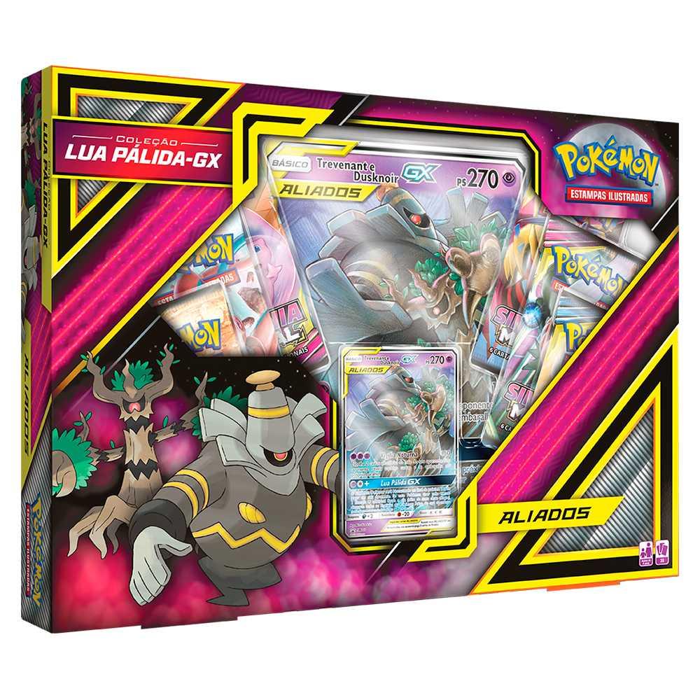 Box Pokémon Lua Pálida GX Trevenant e Dusknoir Gx