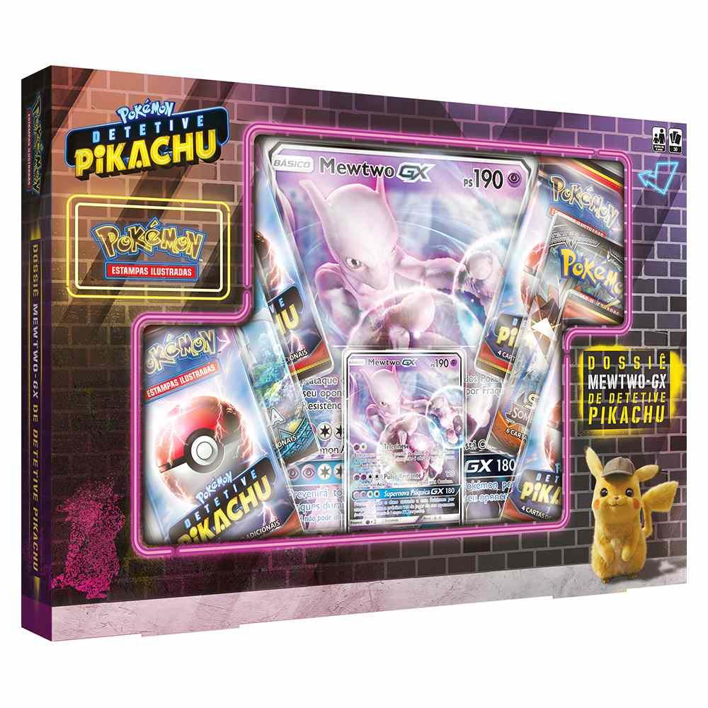 Box Pokemon Mewtwo Gx Detetive Pikachu Dossie