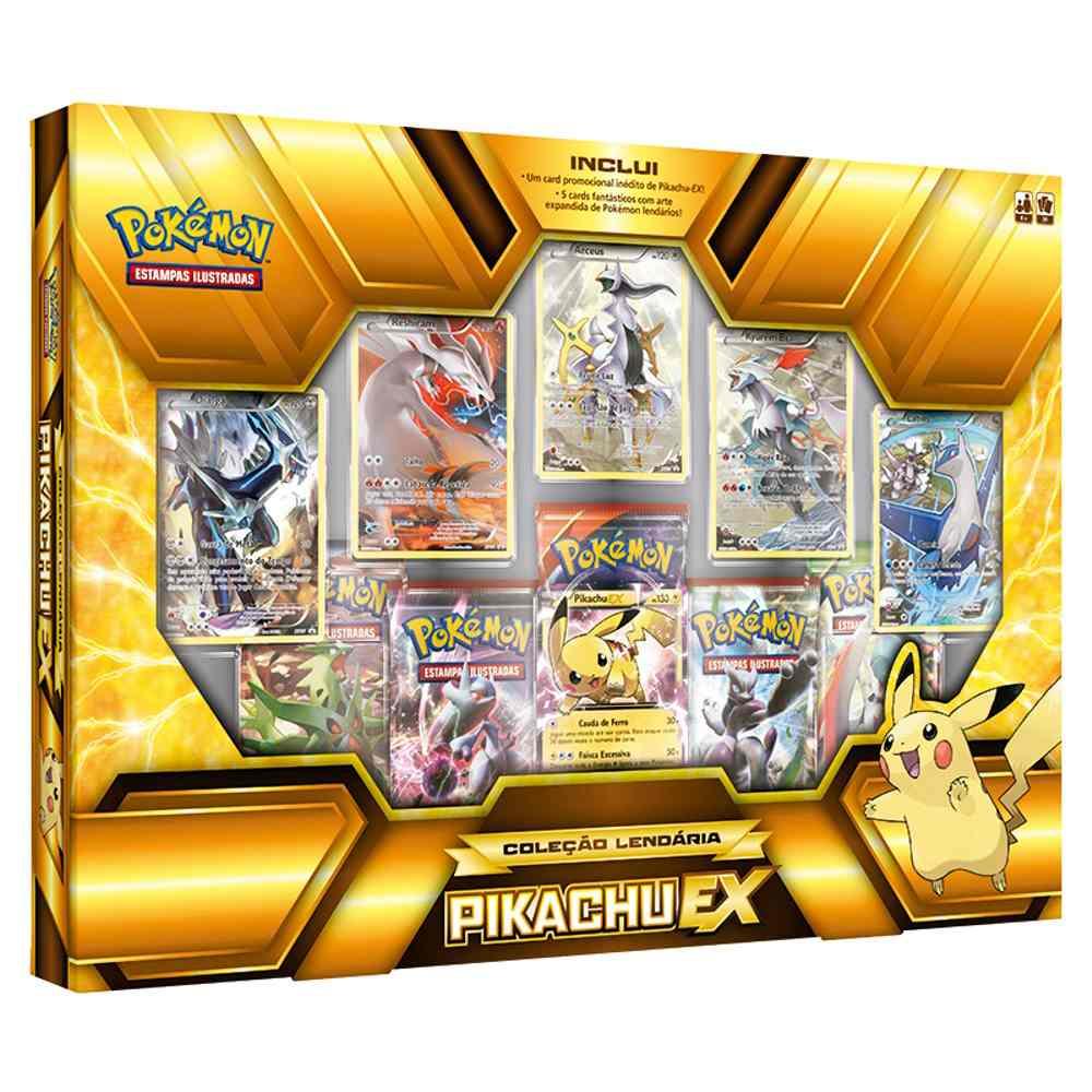Box Pokemon Pikachu Ex Coleção Lendária