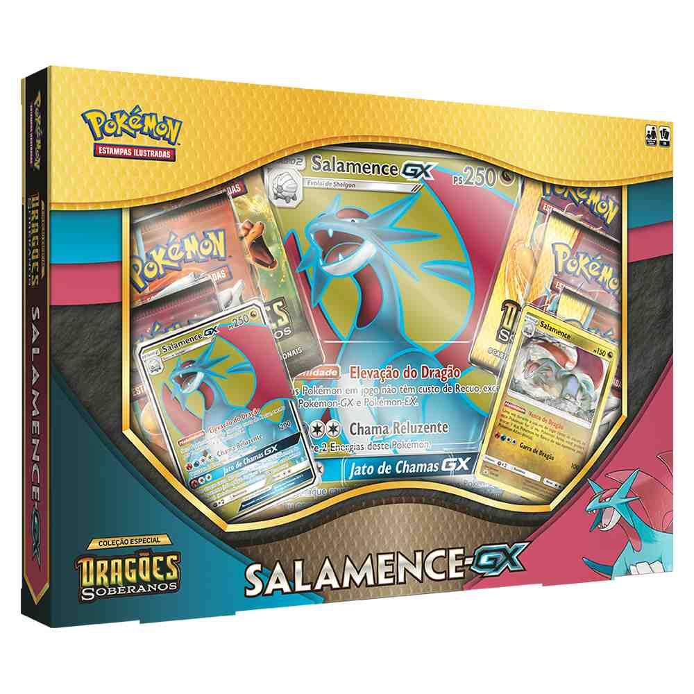 Box Pokémon Salamence GX Dragões Soberanos
