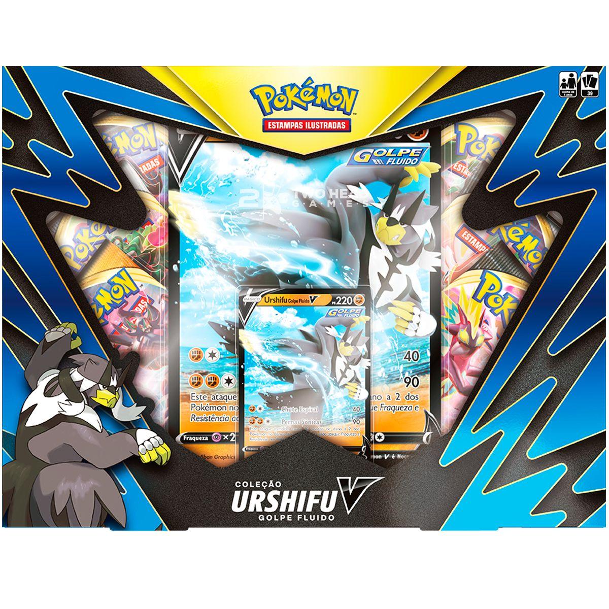 Box Pokémon Urshifu V Golpe Fluido Espada Escudo