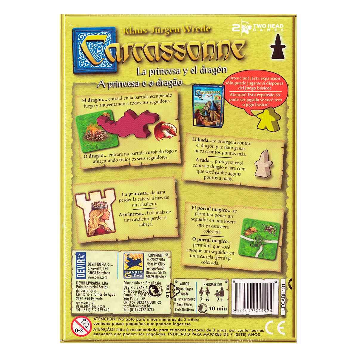 Carcassonne Expansão A Princesa e o Dragão 2 Edição