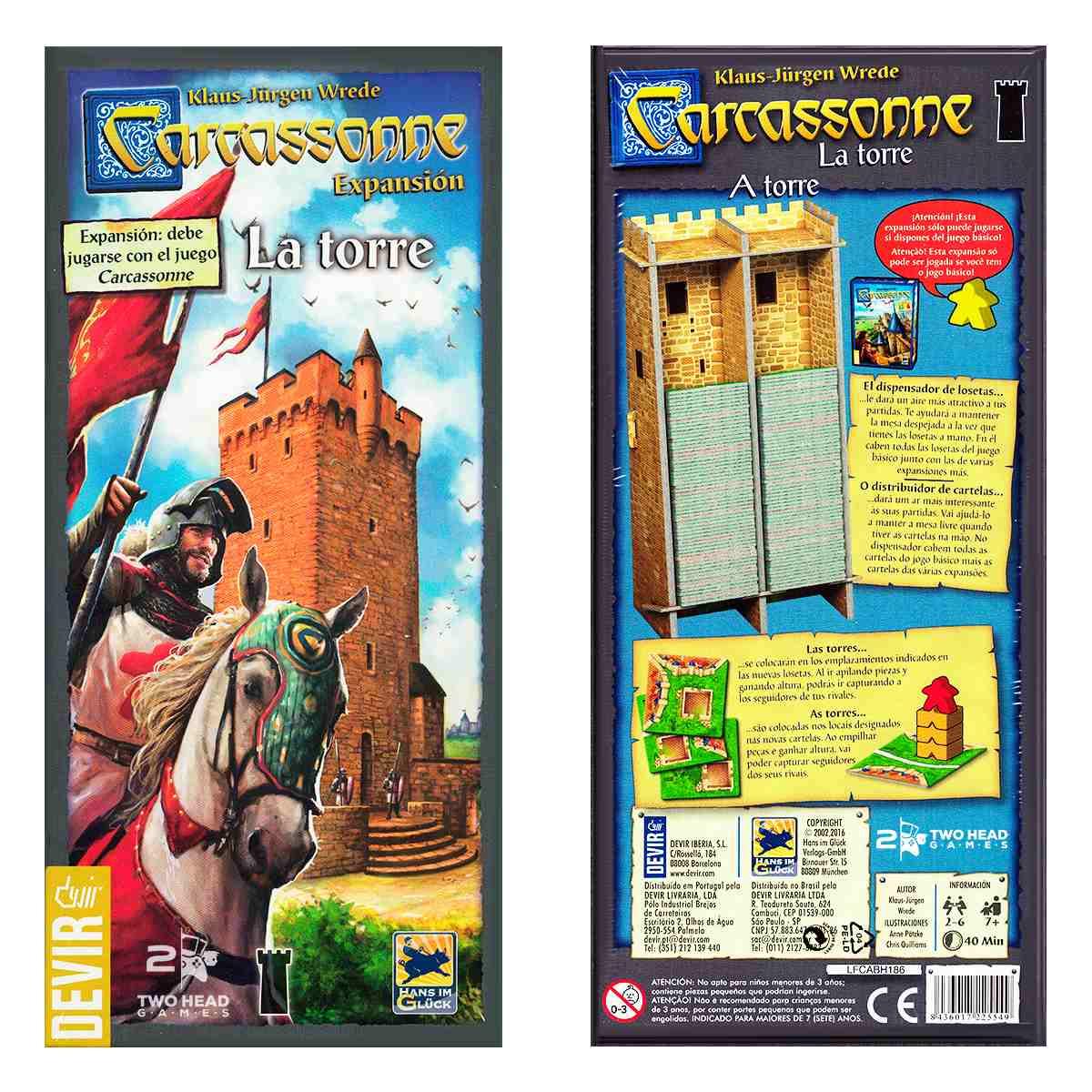 Carcassonne Expansão A Torre 2 Edição