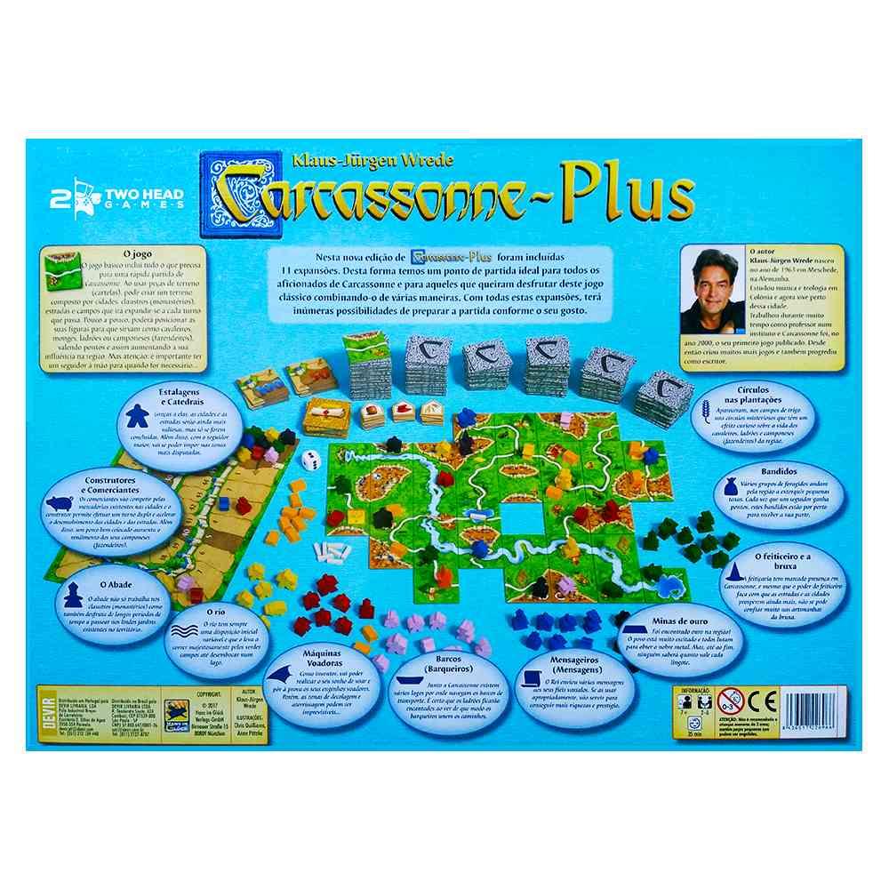 Carcassonne Plus Big Box Jogo Tabuleiro Base e 11 Expansões