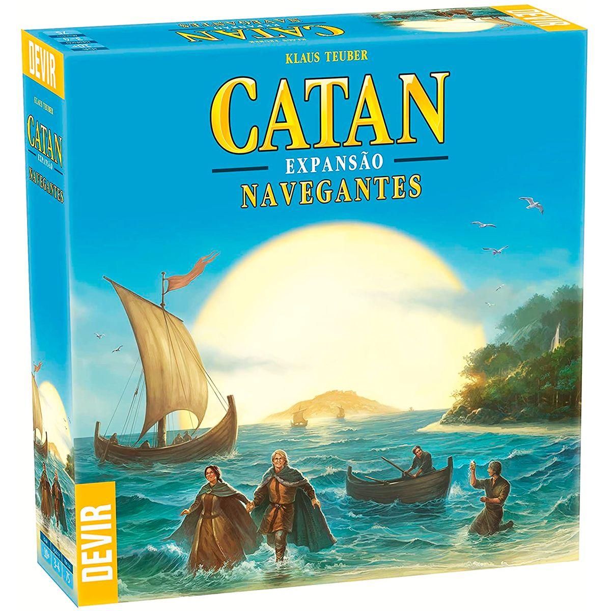 Catan Navegantes Expansão Jogo De Tabuleiro