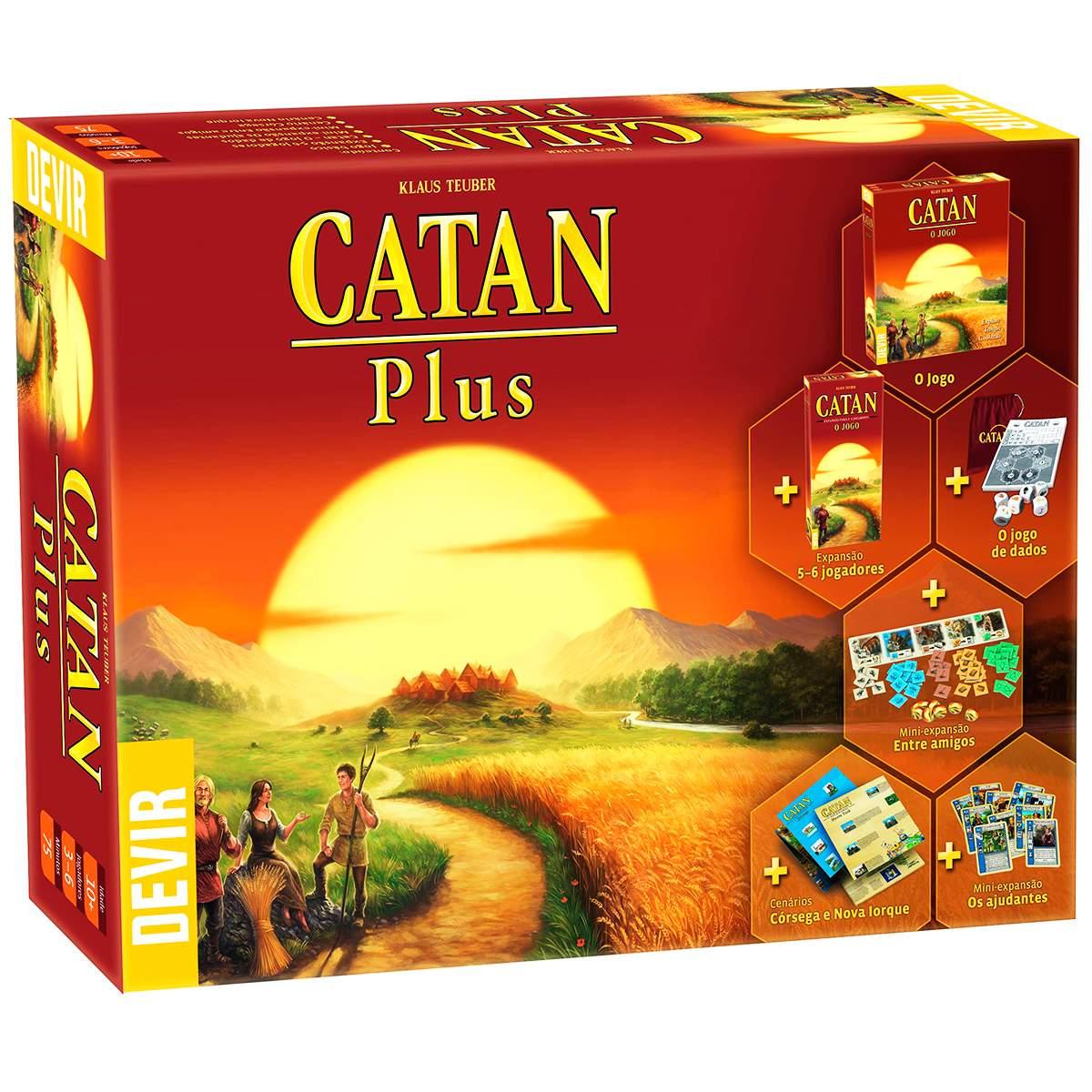 Catan Plus Edição Especial Jogo de Tabuleiro Devir