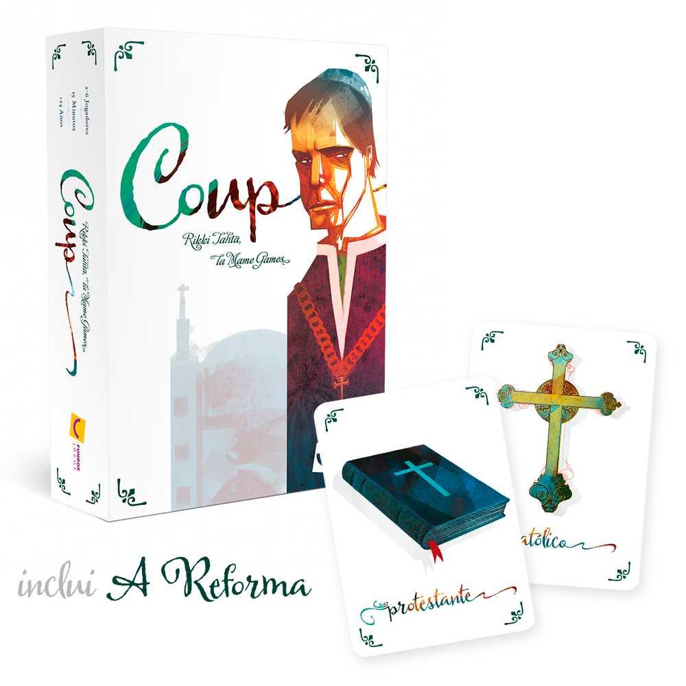 Coup 2ª Edição Inclui Expansão A Reforma Jogo de Cartas