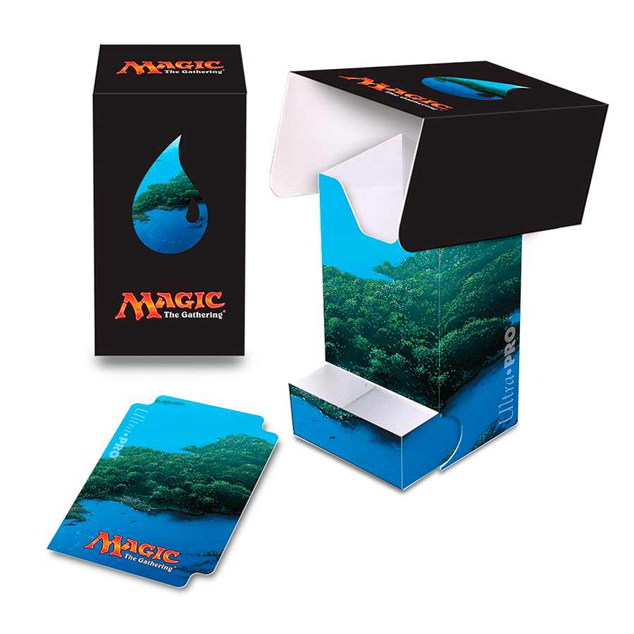 Deck Box Mana 5 Island Lands Magic