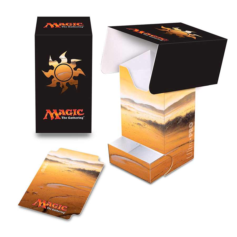 Deck Box Mana 5 Plains Lands Magic