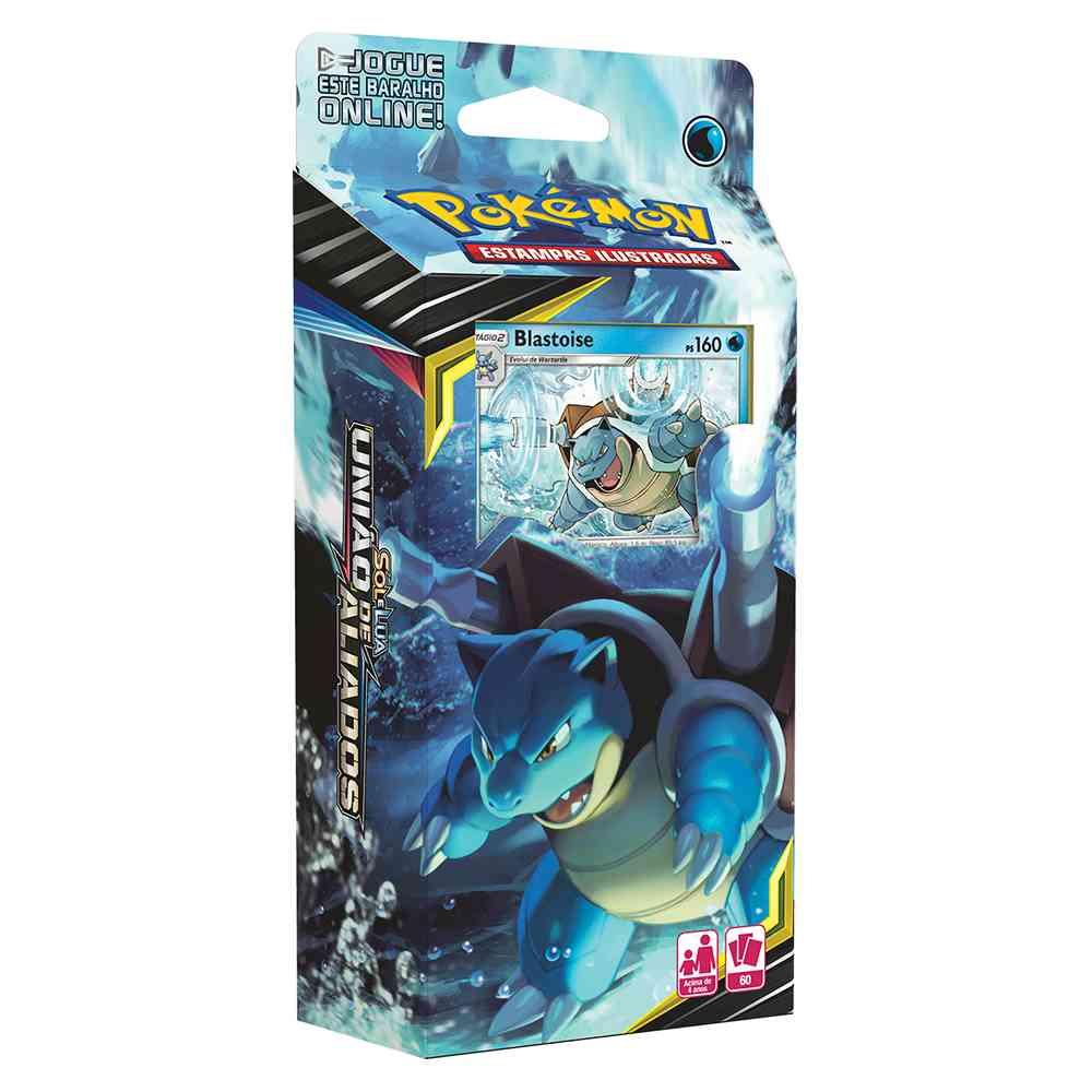 Deck Pokemon Blastoise Sol e Lua 9 União de Aliados