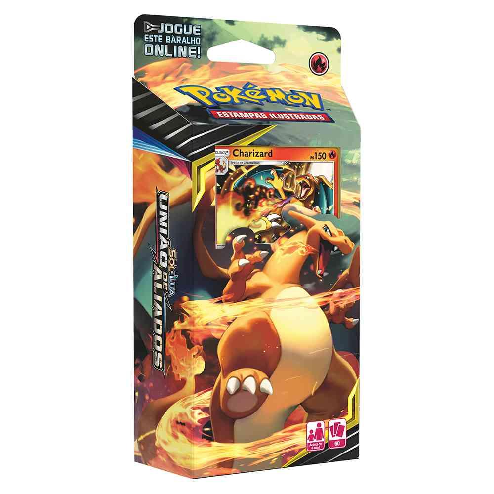 Deck Pokemon Charizard Sol e Lua 9 União de Aliados