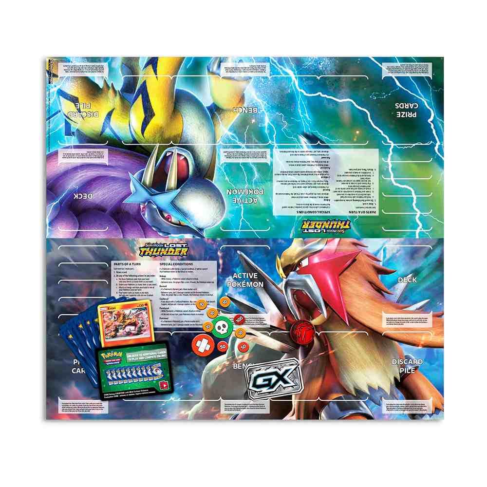 Deck Pokemon Entei Sol e Lua 8 Trovões Perdidos