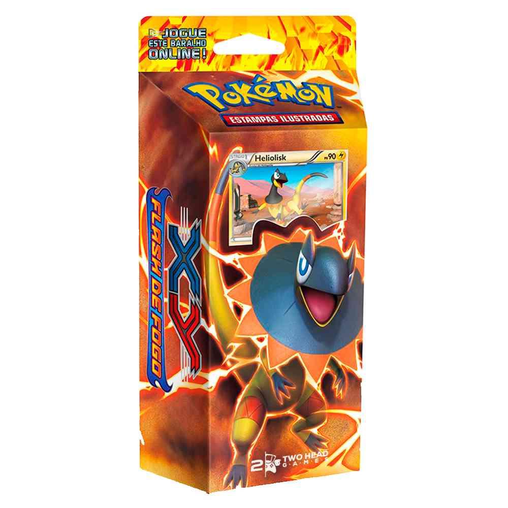 Deck Pokemon Heliolisk XY2 Flash de Fogo Trovão Reluzente